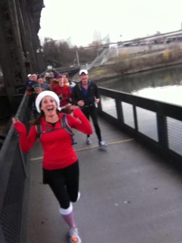 Picture from Coach Jim's 2012 Annual Christmas Run