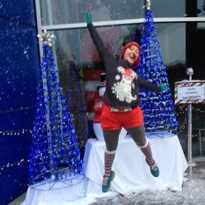 There was lots of holiday spirit and (artificial) snow to go around at this year's Foot Traffic Holiday Half 5K.