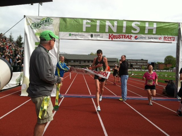 "The winner of the 2012 Eugene Marathon is defininetly a ""fast guy"". - Photo by Kelly Barten"