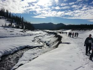 White River Snowshoe Race Along The White River Canyon Credit: Amber Corsen
