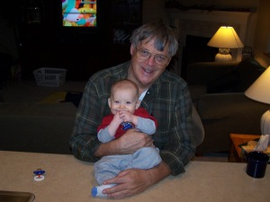 My sweet father (with my sweet baby boy) three years before he passed away.  Photo credit: Amy Little