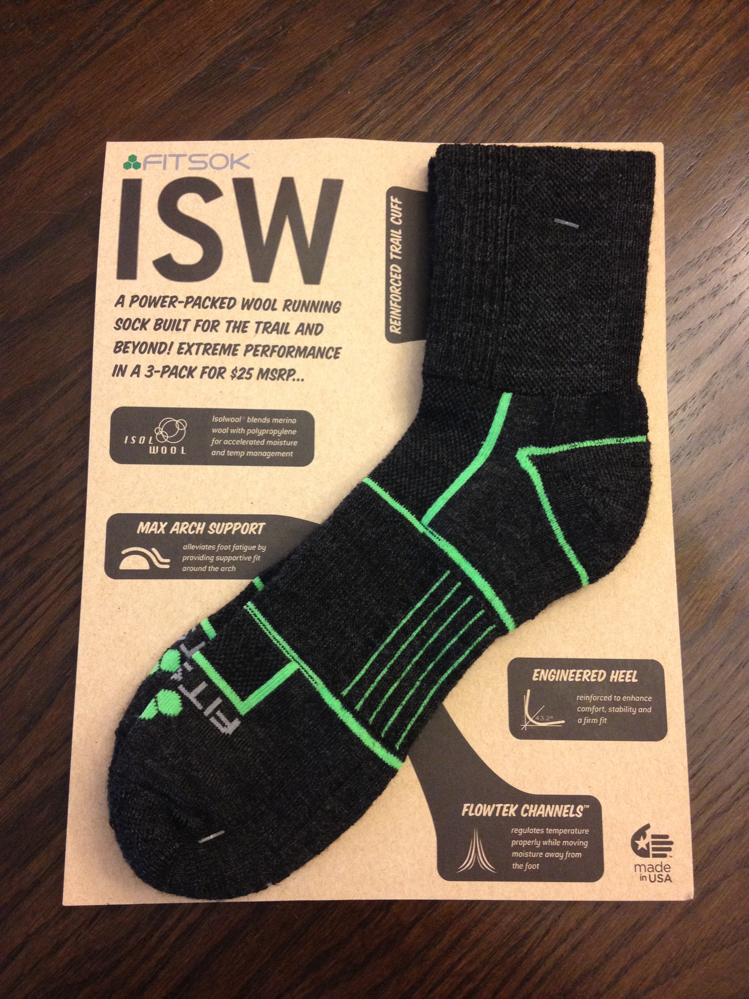 Gear Review: Fitsok ISW Wool Running