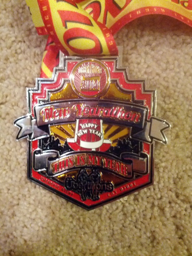 NewYearathon race medal. (photo by Tung Yin)