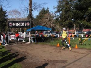 Finish line at the Lincoln City Half & 10k