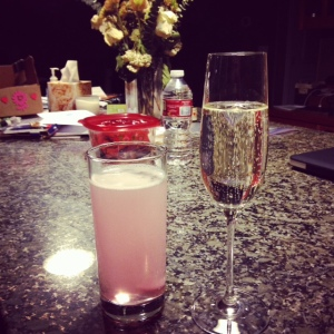Nuun and champagne.