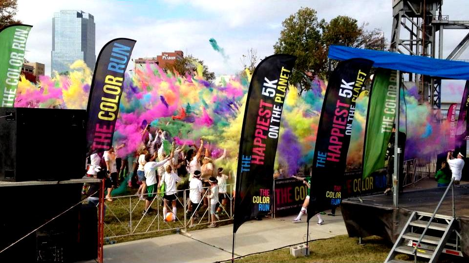 A 2012 Color Run 5k After-Party in progress.