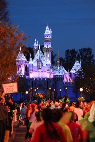 Sleeping Beauty Castle was one milestone at the Tinker Bell Half. - Photo by Susan Cook