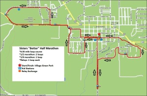 "The course map. - Photo by Sisters ""Better Half"" Marathon"