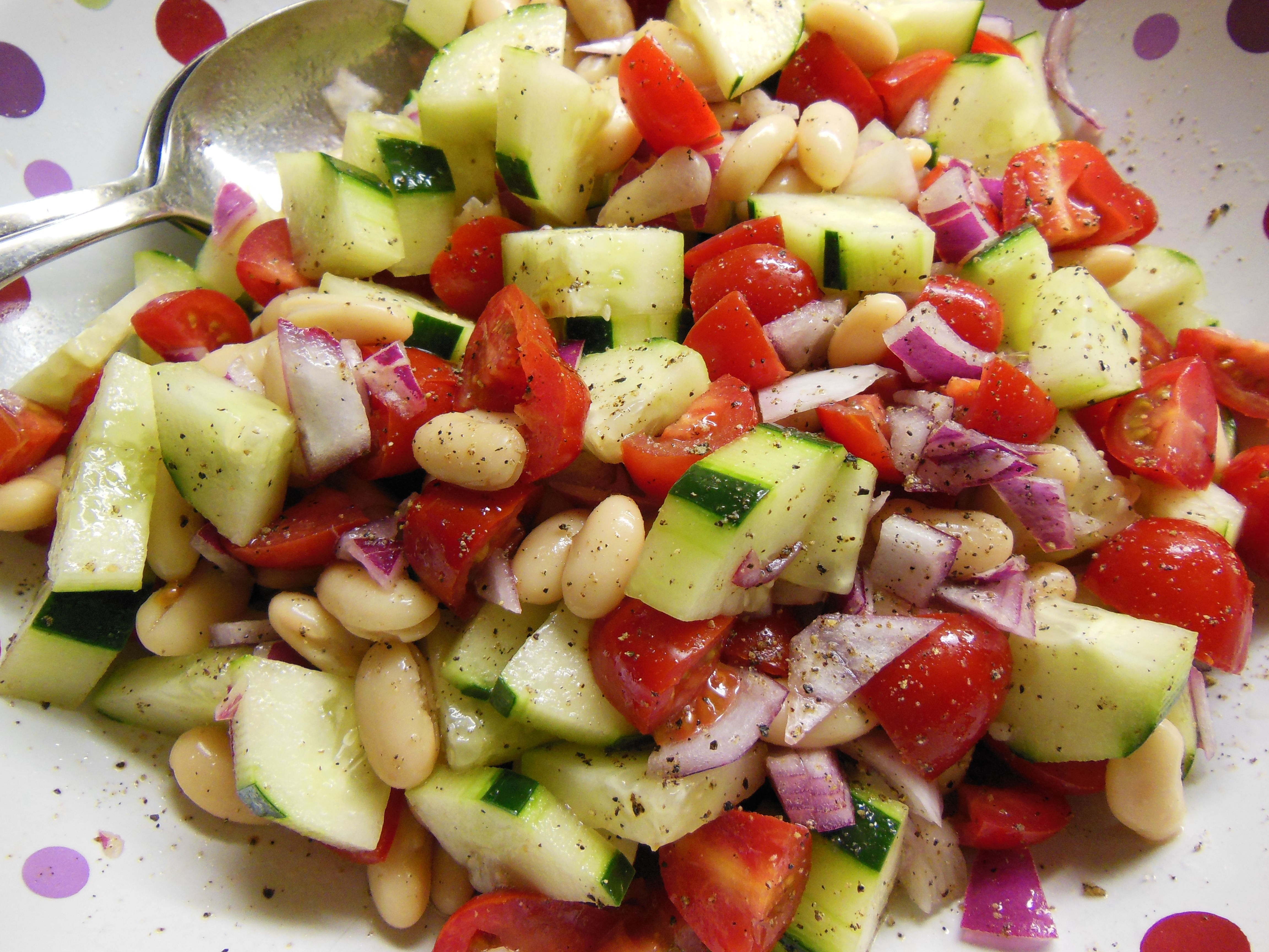 ... Racing Weight Test Kitchen: White Bean, Tomato and Cucumber Salad
