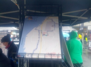 10K route on display under a shelter (photo by Tung Yin)