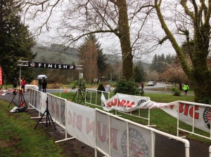 The start/finish line. This picture in NO WAY does justice to the rain. I only ended up with a few pictures due to the ongoing threat that my phone was gonna succomb to the showers! - Photo by Matt Rasmussen