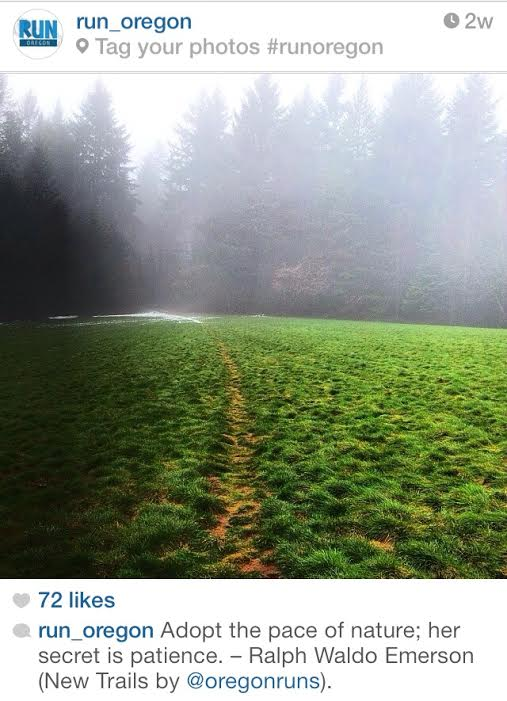 ralph waldo emerson instagram run oregon