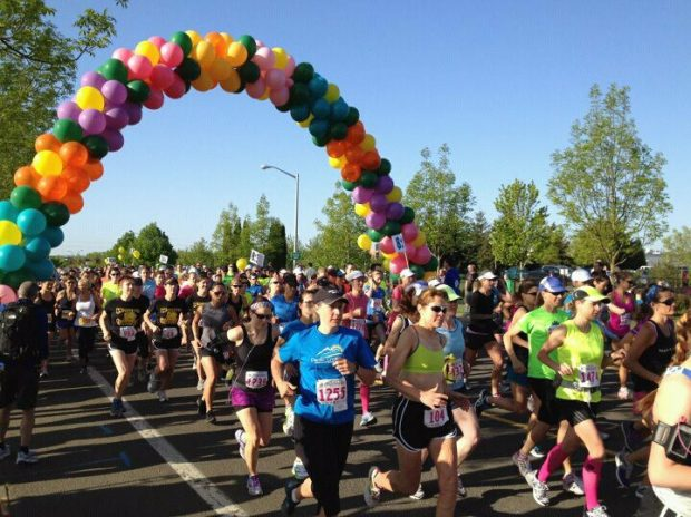 The start of the 2012 Hippie Chick Half Marathon. Image Credit: Simply Julie! at http://lifesimplywithjulie.blogspot.com/