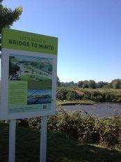 Future site of the bike and pedestrian bridge into Minto Brown Park