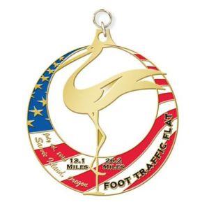 Foot Tarffic Flat Finisher Medal for 2014