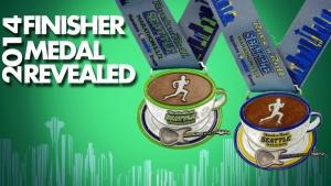 Seattle Rock 'N' Roll Medals for the Marathon and Half Marathon