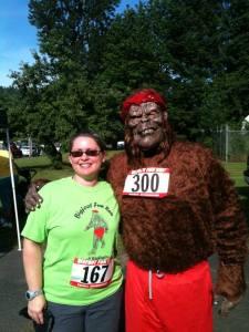 He is real! - Photo courtesy of Bigfoot Fun Run