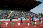 Eugene Marathon Finish Line Inside Hayward Field (Photo Credit: Eugene Emerald)