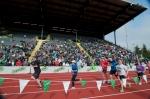 Eugene Marathon Finish Line Inside Hayward Field (Photo Credit: Eugene Emerald)