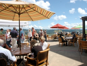 Check out the view from the King Estate Winery terrace! Photo courtesy Molly Blancett.