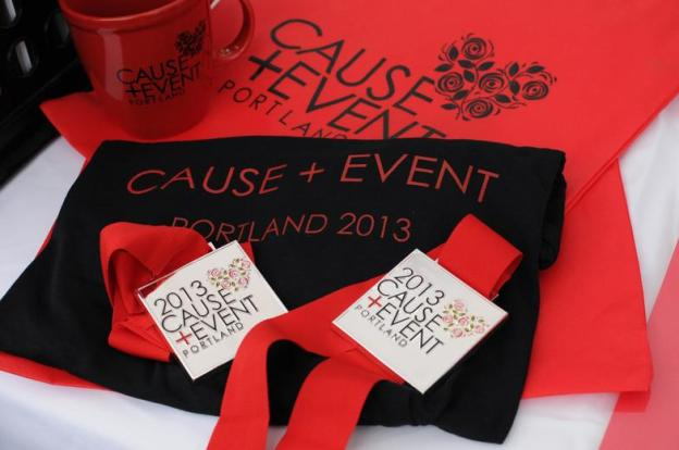 2013 Cause + Event Portland race merchandise.  Photo Credit:  Brook Kirkin