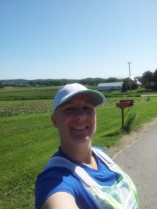 Horrible photo of me, but it shows the beautiful Wisconsin country and the Roadnoise vest :)